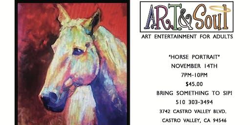 """Paint Night: """"Horse Portrait"""""""