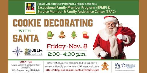 JBLM EFMP & SFAC Cookie Decorating with Santa