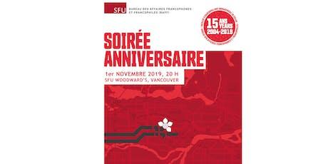 Soirée anniversaire du Bureau des affaires francophones et francophiles tickets