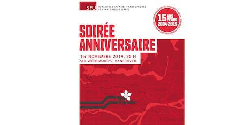 Soirée anniversaire du Bureau des Affaires Francophones et Francophiles