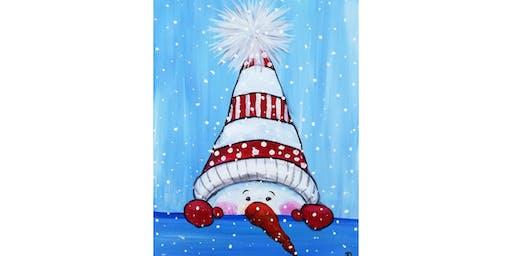 """12/7 - Cocoa & Canvas Family Event """"Peek-a-Boo Snowman"""" @ Vino at the Landing, Renton"""