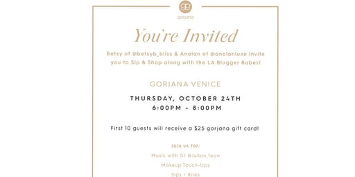 Girls Night Out at Gorjana in Venice Hosted by @Betsyb_Bliss & @ AnolanLuxe  Sip & Shop along with the LA Blogger Babes!