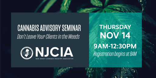 Cannabis Advisory Seminar - Don't Leave your Clients in the Weeds