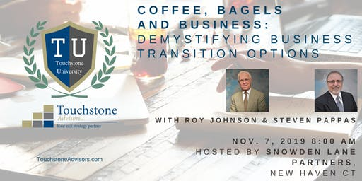 Coffee, Bagels and Business: Demystifying Business Transition Options