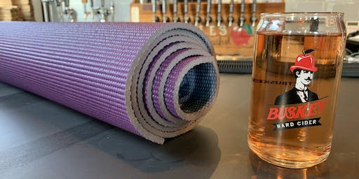 Work For Your Beer: Yoga at Buskey Cider