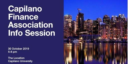 Capilano Finance Association Info Session