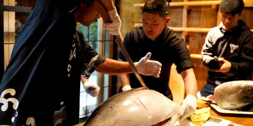 Tuna Cutting Show and Tuna Auction on Dopa's Opening