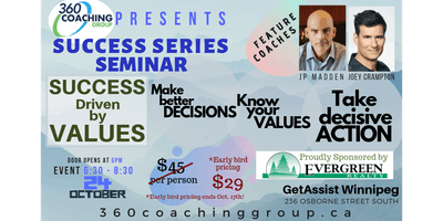 360 Coaching presents - Success Driven by Values - From Decisions to ACTION