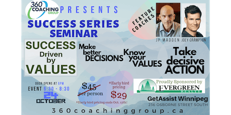 360 Coaching presents - Success Driven by Values - From Decisions to ACTION tickets