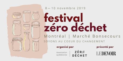 Festival Zéro Déchet de Montréal | 8-10 novembre 2019