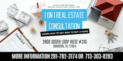 1 on 1 Real Estate Consultation: Learn How to Get $50K to Buy a Home