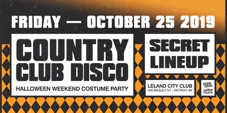 Country Club Disco Halloween Party tickets