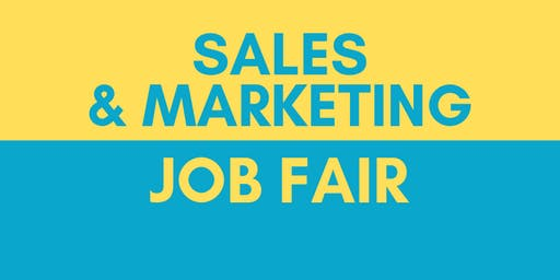 Sales & Marketing Job Fair - November 4, 2019