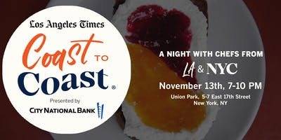 Los Angeles Times Coast to Coast in NYC: Presented by City National Bank