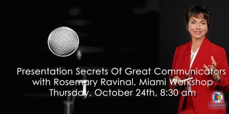Presentation Secrets Of Great Communicators Workshop tickets