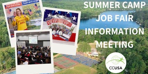 Online Camp Counselors & Job Fair Information Event