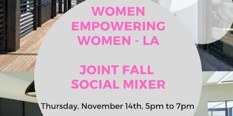 Women Empowering Women Joint Fall Social Mixer with CIME & the Riveter West LA  tickets