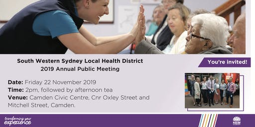 2019 South Western Sydney Local Health District Annual Public Meeting