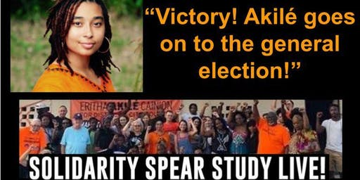 """""""Victory! Akilé goes on to the general election!"""" - online solidarity study"""