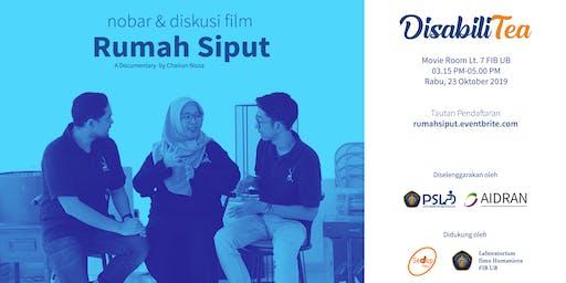 """DisabiliTea: Nobar dan Diskusi Film """"Rumah Siput"""""""