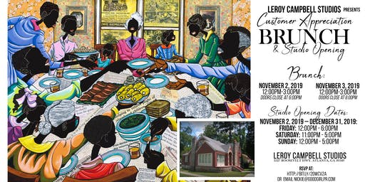 Leroy Campbell Art Studio Presents Customer Appreciation Brunch