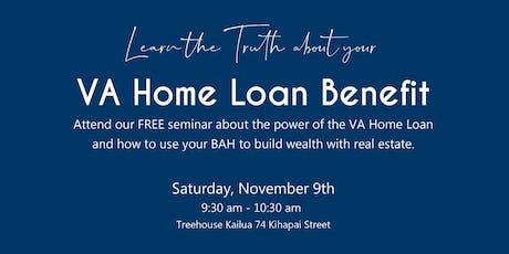 VA Home Loan Benefit tickets