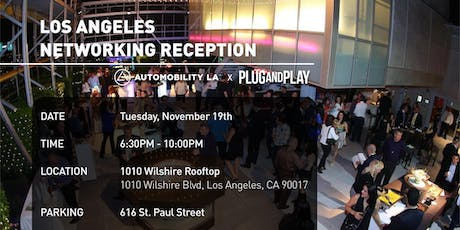 Plug and Play Networking Reception tickets
