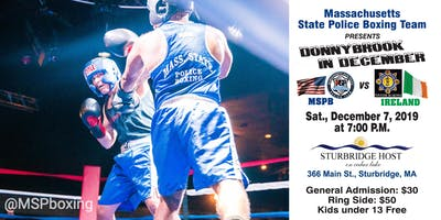 Mass State Police Boxing Team  presents: The Donnybrook in December