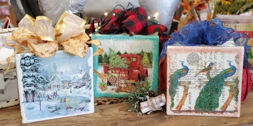Holiday Glass Block Project at the Wisconsin Dells Craft Mall