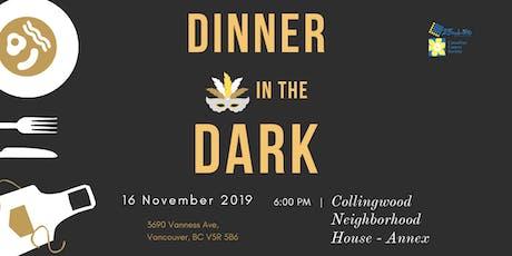 Dinner in the Dark: Canadian Cancer Society Fundraising Dinner tickets