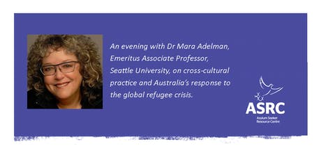 An evening with Dr Mara Adelman: cross-cultural practice and refugee crisis tickets