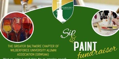 GBWUAA (Wilberforce University Sip &  Paint Fundraiser tickets