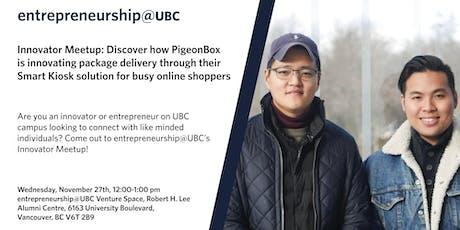 entrepreneurship@UBC Innovator Meetup tickets