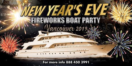 New Year's Eve Fireworks Boat Party Vancouver 2020 tickets