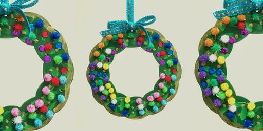 Kids Christmas Wreath Decorating Workshop