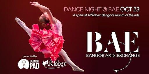 Dance Bangor Night at the Bangor Arts Exchange as part of ARTober