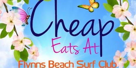 Cheap Eats At Flynns Beach Surf Club  tickets