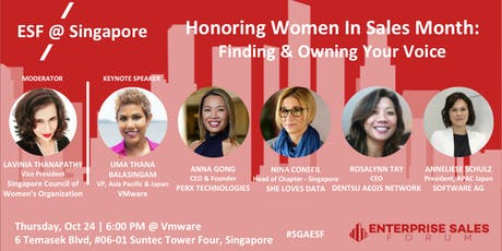 Honoring Women in Sales Month: Finding & Owning Your Voice tickets