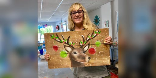 Reindeer: Kent Narrows, Harris Crab House with Artist Katie Detrich!