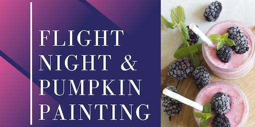 Flight night and pumpkin painting
