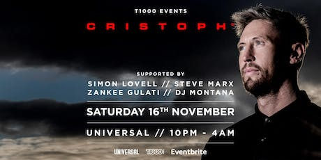 T1000 presents Cristoph tickets