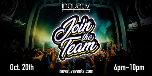 INOVATIV EVENTS PRESENTS: JOIN THE TEAM!