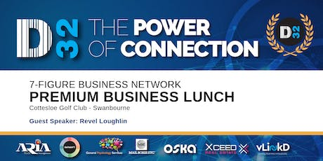 District32 Connect Premium Business Lunch Perth - Thu 21st Nov tickets