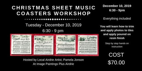 Christmas Sheet Music Coasters Workshop tickets