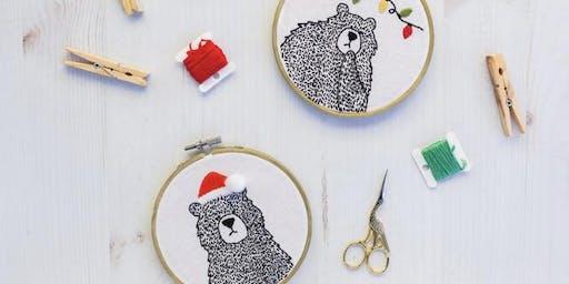 Basic Stitching Workshop - Christmas Bears