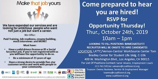 Opportunity Thursday  Job Fair