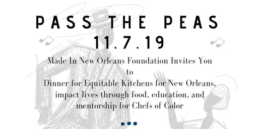 Pass The Peas: MiNO Benefit Dinner