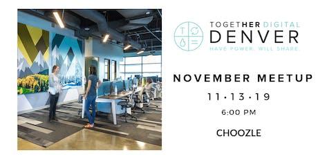 Together Digital Denver | November Members+1 Meetup: Side Hustle  tickets