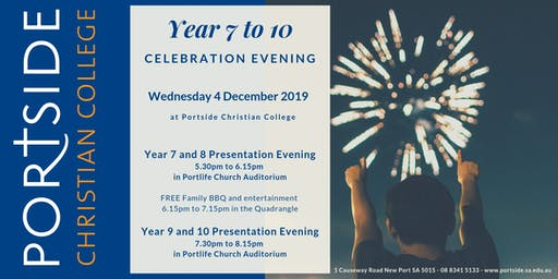 Year 7 to 10 Celebration Evening