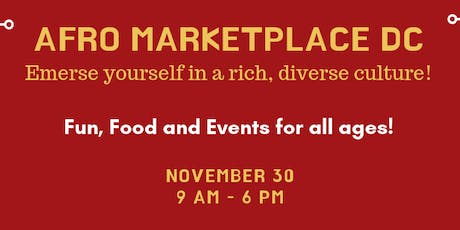 2019 Afro Marketplace DC - Call for vendors- Registration link below. tickets
